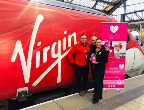 Fabulous Pink Gin at Virgin Trains