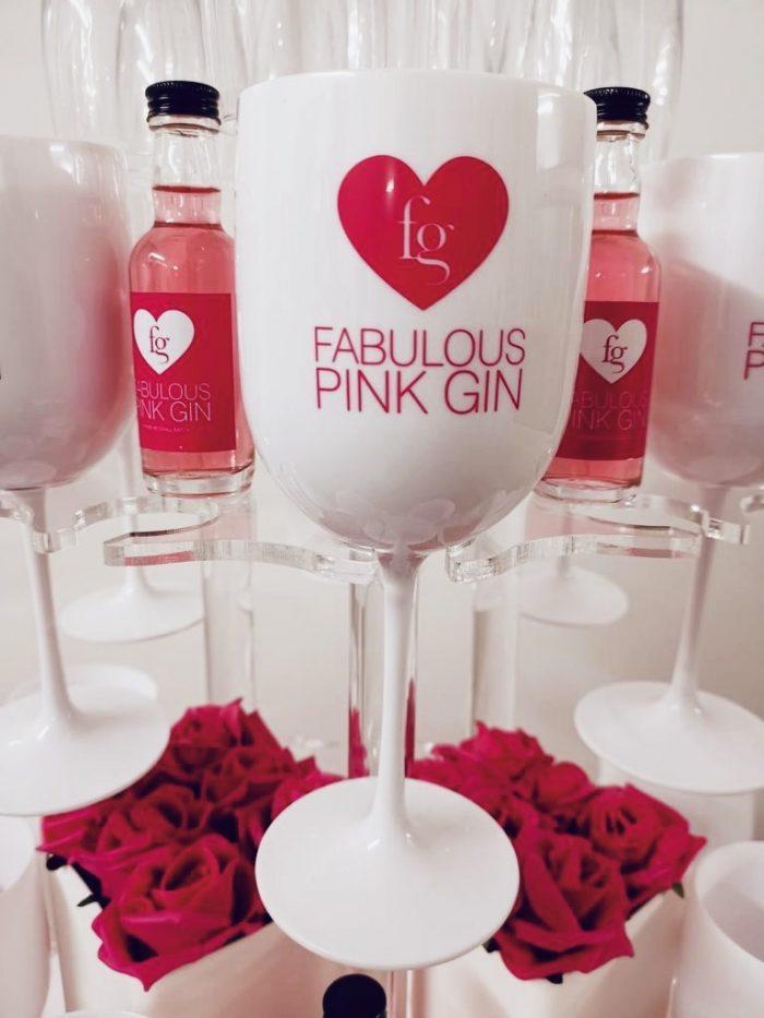 Fabulous Pink Gin Acrylic glasses